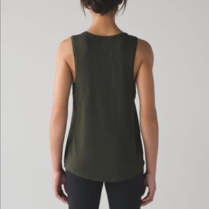 Authentic Lululemon Muscle Love Tank. Dark Olive💚